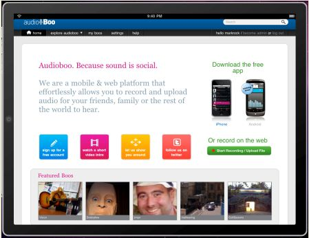 audioboo6 audioBoo Celebrates Its Birthday and Gets Ready For The iPad