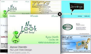 bizcards 300x178 The Top 10 Most Creative Search Engine Interfaces