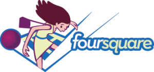 foursquare logo girl 300x141 Foursquares Dennis Crowley Talks Revenue, API, Brands, and Beyond the Badge