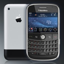iphone vs blackberry bold Report: Blackberry Users Have iPhone And Android Envy