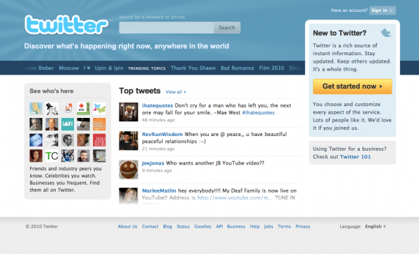 mac screenshot 600x364 Twitters Got A Brand New Homepage