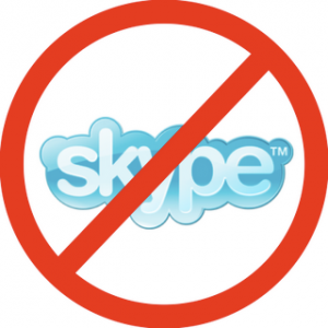 no skype 1 300x300 Another one bites the dust: Egypt blocks Skype!