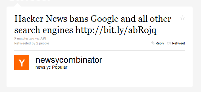 Hacker News Just Banned Google And Every Other Search Engine [Updated]
