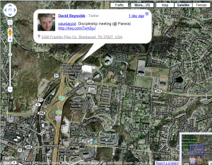 BuzzMaps 300x233 Buzz layer comes to Google Maps. Stalking your friends is now easier than ever!