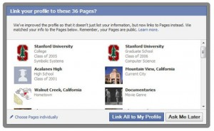 Facebook Connections Opt in 300x184 Facebook yokes Interests to Fan Pages; introduces Community Pages [Updated with Facebook statement]