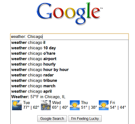 Google weather 10 Google Hacks To Make Life Easier