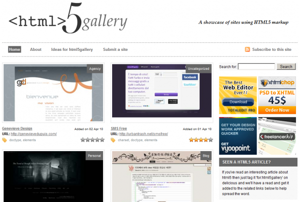 HTML5 Gallery 600x405 5 Must See HTML5 Sites