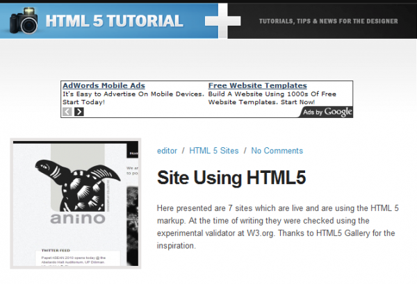 HTML5 Tutorial 600x409 5 Must See HTML5 Sites