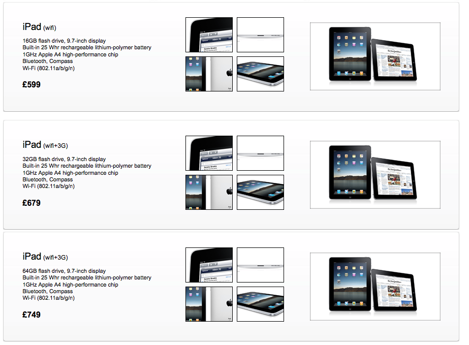 Picture 931 UK iPad pricing posted by reseller. This cant be right... [updated]