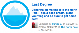 Screen shot 2010 04 12 at 20.57.57 300x128 Foursquare Hits New Landmark: First check in at the North Pole