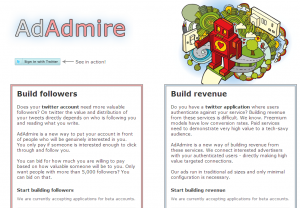 admireclip 300x208 Has Twitter Got It Wrong? AdAdmire launches ads for followers, not tweets