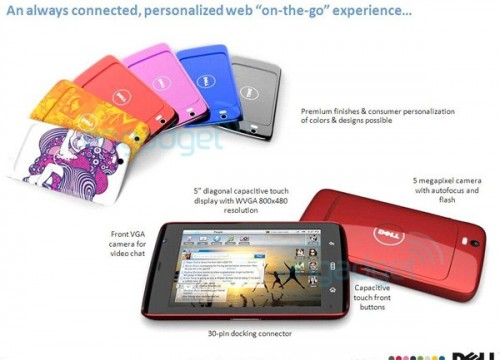 dell mini5 streak tablet engadget slide leak 500x360 Shots of Dells New Tablet Leaked