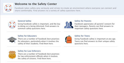 facebook safety1 Facebook launches new Safety Center in child protection push