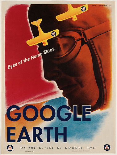 googleearth2 Loose Tweets Sink Fleets   amazing propaganda posters for World War 3.0