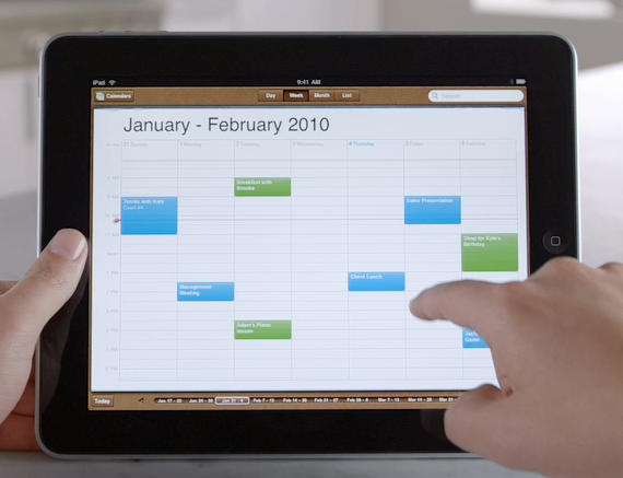 iPadCalendar How You Should Think Of The iPad