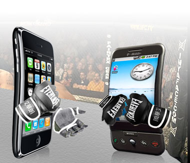 iphone vs android ufc iPhone OS 4 vs Android: Why Apple just lost the game.