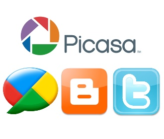 picasa now has twitter buzz and blogger sharing