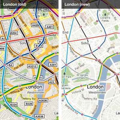Google Transit - London