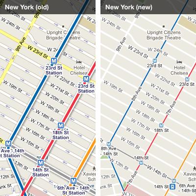 Google Transit Maps Gets Uncluttered