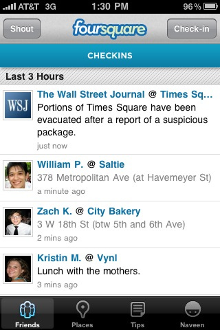 4586607703 e057033112 WSJ Uses Foursquare To Alert Users About Times Square Evacuation