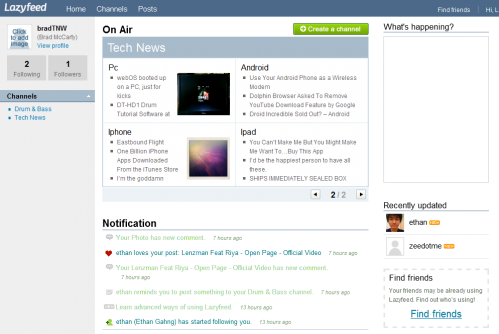 Dashboard1 499x334 Lazyfeed changes the way the Internet comes to you.