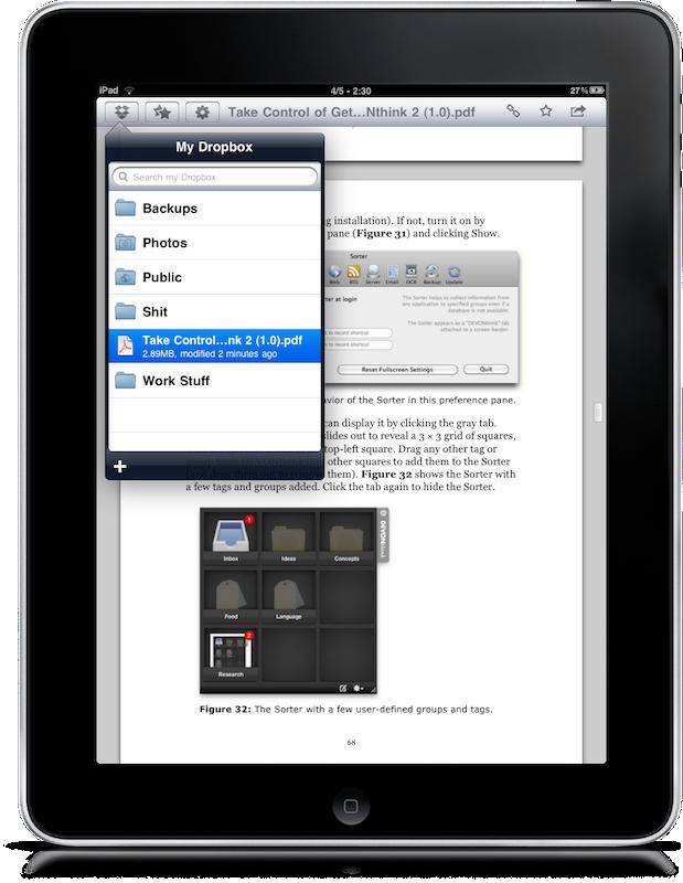 Dropbox iPad 3 Dropbox auf dem iPad