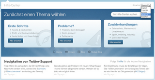 Picture 14 Twitters Help Desk improved, support in 4 new European languages