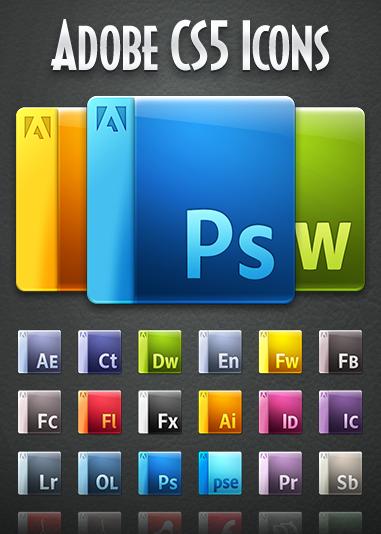 Gorgeous Adobe CS5 Icons