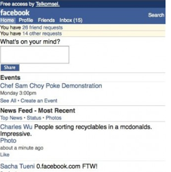 Picture 562 Facebook launches a new mobile site with a twist..ZERO Data Costs.