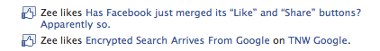Picture 609 Confirmed: Facebook has merged its Like and Share buttons. Slight catch though.