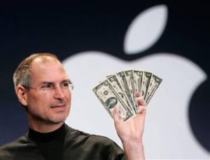 apple money 300x228 Official: Apple has sold 1 Million iPads in 28 days.