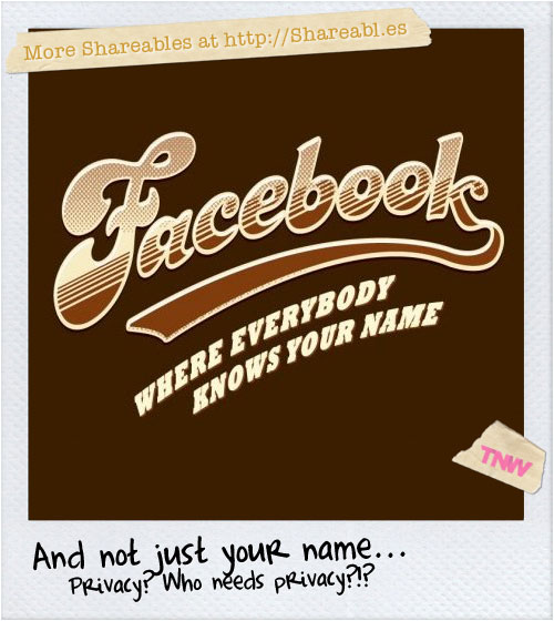facebook: where everybody knows your name