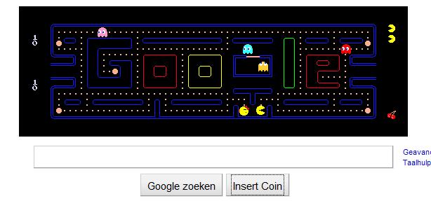 googleDoodlePacMan Best Google Doodle Ever!