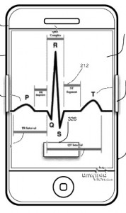 iPhone EKG1 178x300 iPhone Heart Attack   Apple Applies For Cardiac Sensor Patent