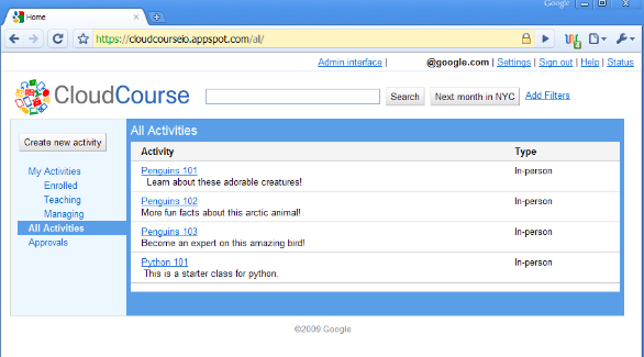 Google's CloudCourse is an open source alternative for educational scheduling.