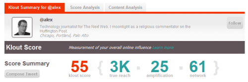 klout 1 500x166 Klout Launches Site Wide Refresh In Bid To Become The Arbiter Of Influence