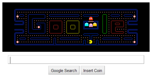 pacman Google Gives You A Free Quarter To Play Pacman, Inside Its Doodle
