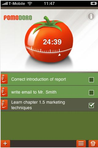 pomtechnique1 5 great productivity apps for iPhone owning Pomodoro fans
