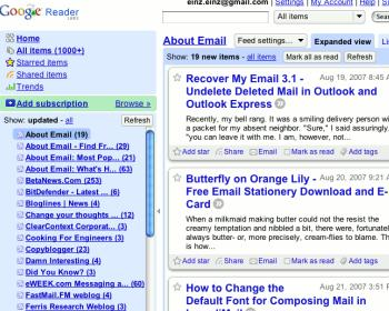 reader Google Reader Releases A Very Major Minor Update