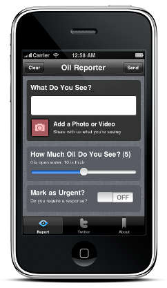 slide.2 Oil Reporter mobile app puts tracking the spill in the hands of the crowd