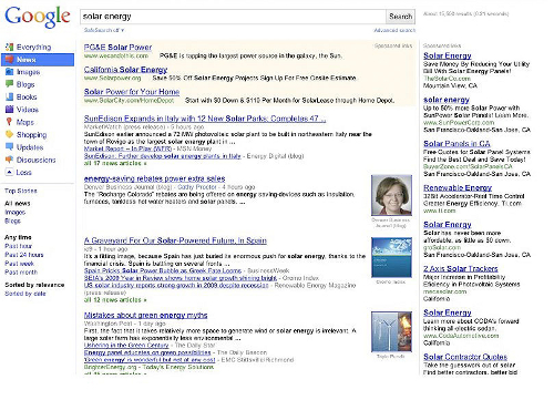 solar energy1 Radical Design Changes Coming To Google Search Results Today