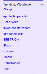 trending gaza1 190x300 Is Whats Trending Now Really Trending On Twitter?