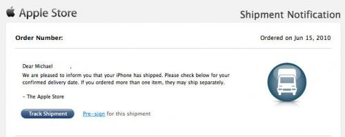 003130 shipment 500 iPhone 4 Pre orders in US Start Shipping