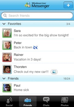 02iphonemessenger Windows Live Messenger For iPhone Now Available