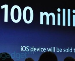 100 million 260x212 Apple Approaching 100 Million iPhones, iPod Touches, And iPads Sold