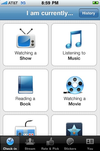 GetGlue iPhone Checkin Get Glue Releases iPhone App, Lets You Check in To Media