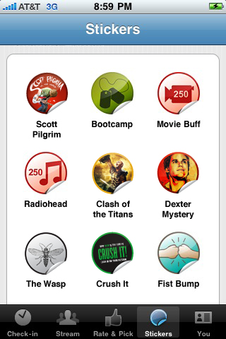 GetGlue iPhone Stickers Get Glue Releases iPhone App, Lets You Check in To Media