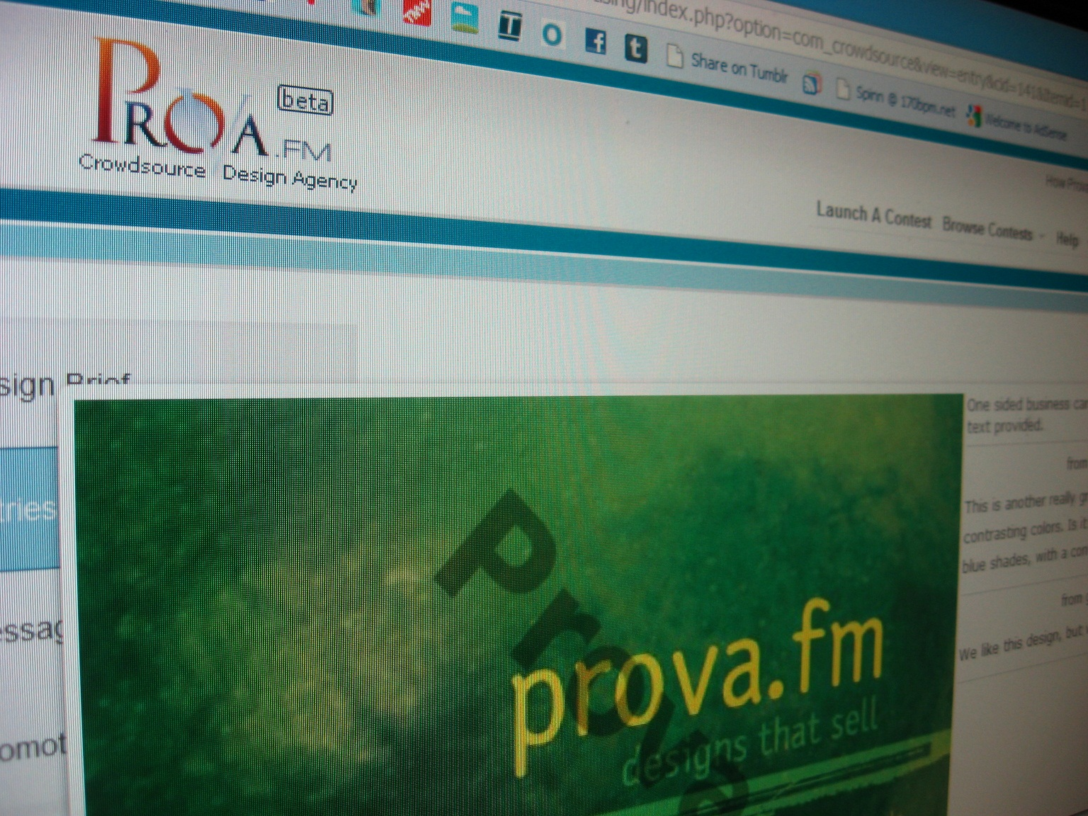 Prova.fm wants to change the face of crowdsourced design.
