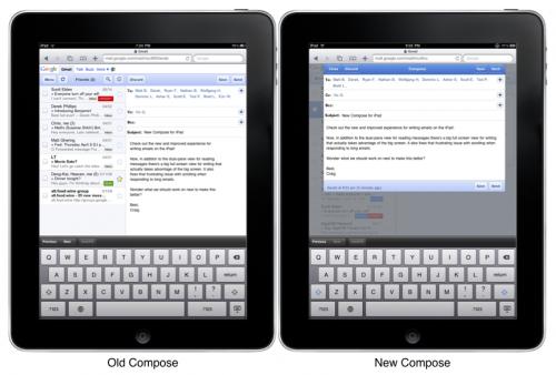 OldAndNewCompose 500x338 Gmail on the iPad gets a spiffy new interface.