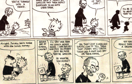 Calvin And Jobs Talk It Over